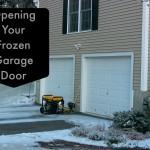 How to Open a Garage Door When it is Frozen Shut