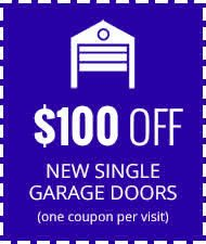 100 Dollars Off New Single Garage Doors