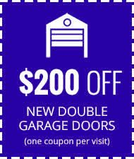 $200 Off New Double Garage Doors
